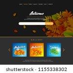 website template designs.... | Shutterstock .eps vector #1155338302