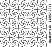 seamless pattern of interlaced... | Shutterstock .eps vector #1155343768