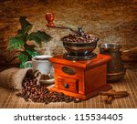 grinder and other accessories... | Shutterstock . vector #115534405