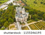 aerial view of castle in... | Shutterstock . vector #1155346195
