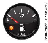 fuel gauge. empty tank. round... | Shutterstock .eps vector #1155359848