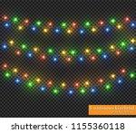 color garland  festive... | Shutterstock .eps vector #1155360118