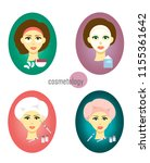 set female faces in cosmetology ... | Shutterstock .eps vector #1155361642