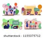 vector different school... | Shutterstock .eps vector #1155375712