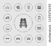 train icon. collection of 13...   Shutterstock .eps vector #1155376192