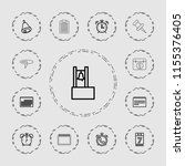 reminder icon. collection of 13 ... | Shutterstock .eps vector #1155376405
