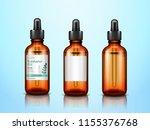 3d eucalyptus essential oil... | Shutterstock .eps vector #1155376768