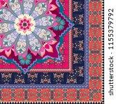 ceramic tile in ornate ethnic... | Shutterstock .eps vector #1155379792