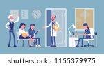 patients waiting for doctor... | Shutterstock .eps vector #1155379975