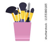 cup with nail file foundation ... | Shutterstock .eps vector #1155380185