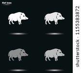 wild boar silhouette flat... | Shutterstock .eps vector #1155383872