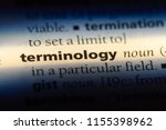 Small photo of terminology word in a dictionary. terminology concept.