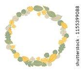 wreath of autumn leaves. ...   Shutterstock .eps vector #1155399088