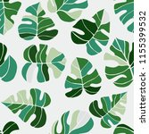hand drawn tropical plants....   Shutterstock .eps vector #1155399532