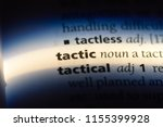 tactic word in a dictionary.... | Shutterstock . vector #1155399928