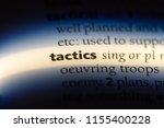 tactics word in a dictionary.... | Shutterstock . vector #1155400228