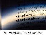 Small photo of starkers word in a dictionary. starkers concept.