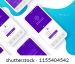 conceptual mobile phones for... | Shutterstock .eps vector #1155404542