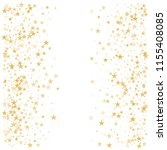 gold flying stars confetti... | Shutterstock .eps vector #1155408085
