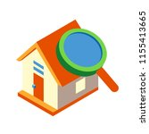 house with magnifying glass... | Shutterstock .eps vector #1155413665
