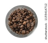 dry coffee beans in bowl....   Shutterstock . vector #1155414712