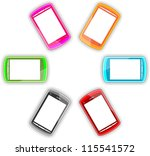 colorful smartphone | Shutterstock . vector #115541572