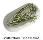 rosemary on plate. preparing...   Shutterstock . vector #1155416065