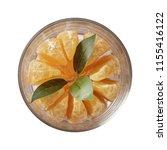 tangerine on glass bowl.  ...   Shutterstock . vector #1155416122