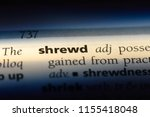 Small photo of shrewd word in a dictionary. shrewd concept.
