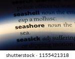 seashore word in a dictionary.... | Shutterstock . vector #1155421318