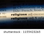 religiose word in a dictionary. ... | Shutterstock . vector #1155423265