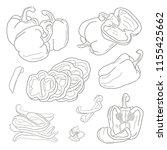 set of peppers | Shutterstock .eps vector #1155425662