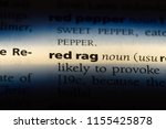 red rag word in a dictionary....   Shutterstock . vector #1155425878
