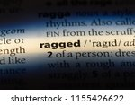 ragged word in a dictionary....   Shutterstock . vector #1155426622