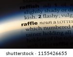 raffle word in a dictionary.... | Shutterstock . vector #1155426655