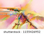 abstract colorful oil  acrylic... | Shutterstock . vector #1155426952