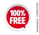 hundred percent free sticker... | Shutterstock .eps vector #1155427105