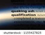 qualification word in a... | Shutterstock . vector #1155427825