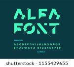 futuristic font set | Shutterstock .eps vector #1155429655