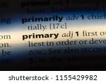 primary word in a dictionary.... | Shutterstock . vector #1155429982