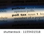 Small photo of poll tax word in a dictionary. poll tax concept.