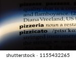pizzeria word in a dictionary.... | Shutterstock . vector #1155432265