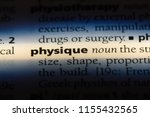physique word in a dictionary.... | Shutterstock . vector #1155432565