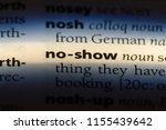 no show word in a dictionary.... | Shutterstock . vector #1155439642