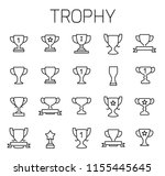 trophy related vector icon set. ... | Shutterstock .eps vector #1155445645