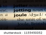 Small photo of joule word in a dictionary. joule concept.