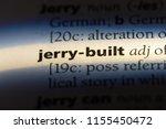 jerry built word in a... | Shutterstock . vector #1155450472