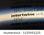 intertwine word in a dictionary.... | Shutterstock . vector #1155451225
