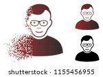pensioner icon with face in... | Shutterstock .eps vector #1155456955