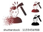 murder with hammer icon with... | Shutterstock .eps vector #1155456988